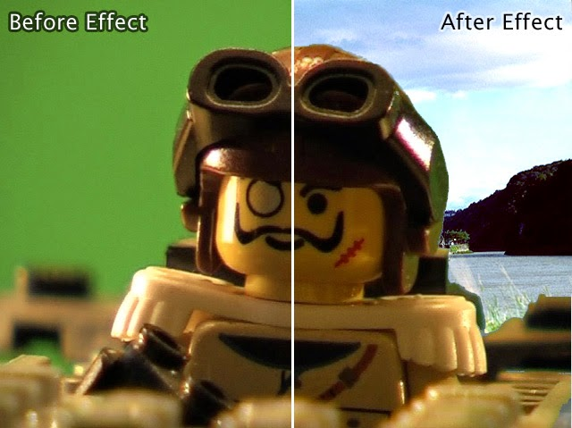 Chromakey before and after